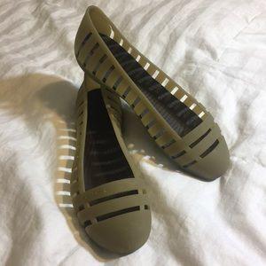 Crocs Smokey Ballet Flat Jelly NWOT